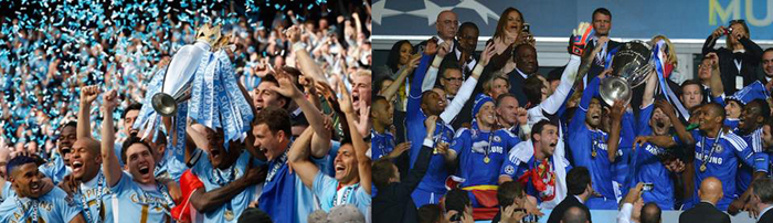 Manchester City and Chelsea