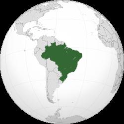 Luas daratan Brazil di Amerika Selatan