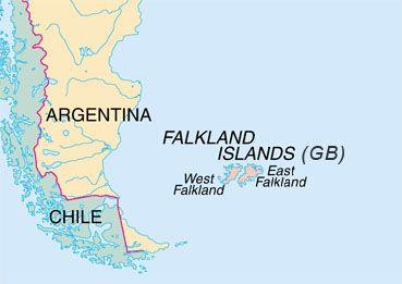 Kepulauan Malvinas (Falkland) di Amerika Selatan